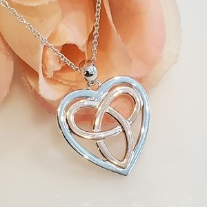 Jewelry - NEW S925 Rosegold Celtic Heart Necklace